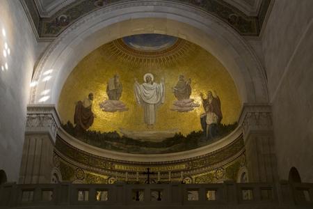 hymnal: Inside of Transfiguration Church , Israel.