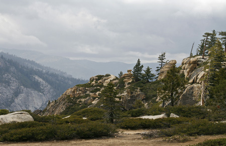 jeffrey: Yosemite Valley in the western Sierra Nevada mountains of California, carved out by the Merced River.