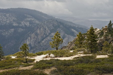 merced: Yosemite Valley in the western Sierra Nevada mountains of California carved out by the Merced River.