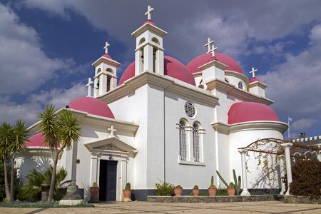 testaments: The Greek Orthodox Church of the Twelve Apostles in Capernaum,Israel