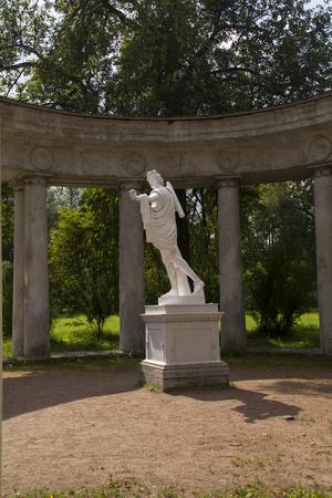 colonnade: Pavlovsk Park Apollo Colonnade pavilion in Saint-Petersburg Russia