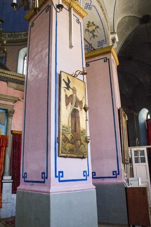 Interior of The Ethiopian Church on Ethiopia Street in Jerusalem, Israel. Editorial