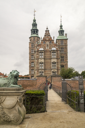 COPENHAGEN, DENMARK - SEPTEMBER 5: Rosenborg park and Rosenborg castle on September 5, 2016 in Copenhagen, Denmark.