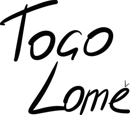 togo: Togo, Lome, hand-lettered Country and Capital, handmade calligraphy, vector