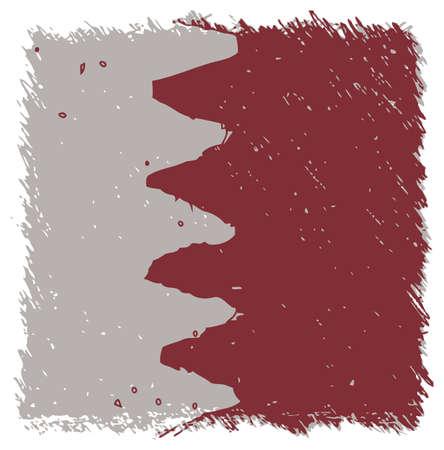bahrain: Flag of Bahrain, handmade, square shape