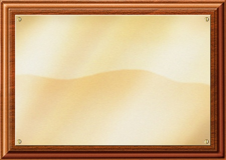 etched: Blank brass plaque illustration for inserting text Stock Photo