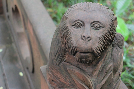 stone carving: monkey stone carving Stock Photo