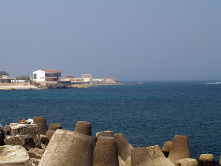 alexandria egypt: Alexandria, Egypt. Pier near the King bay. Stock Photo