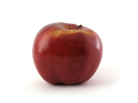 dappled: An apple variety called Red Cheaf isolated on white.