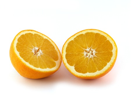 solated: An orange solated on white background.