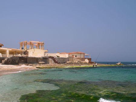 alexandria egypt: Beautiful sea view. Mediterranean Alexandria egypt