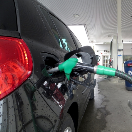 unleaded: View car filled with unleaded petrol