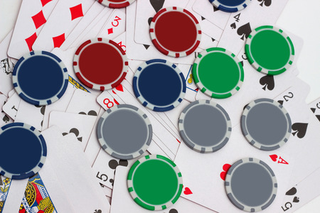 las vegas metropolitan area: Big win at poker game (background)