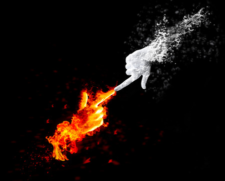 fire and ice: Red fire and white ice, the concept of resistance and competition