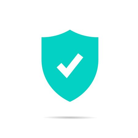 shield icon with a check mark. concept of protection, reliability, safety. stock vector illustration isolated on fucking background.