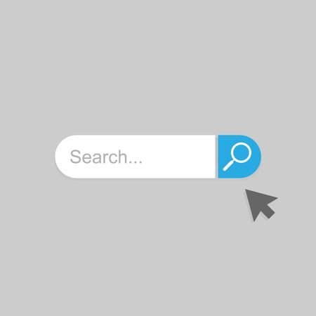 Search vector icon. Search Bar for Ui.cursor icon.stock vector illustration isolated on gray background.