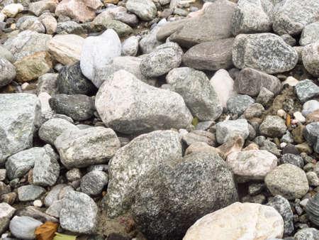 small stones: Set of big and small stones ashore