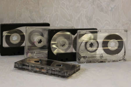 audio cassette: The old audio cassette Stock Photo