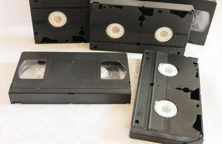 videocassette: cintas de vídeo antiguas
