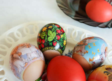 decorated eggs: Decorated eggs for Easter