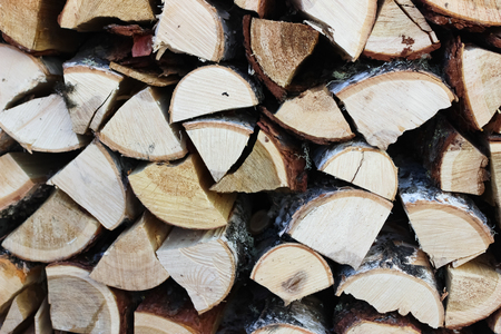 furnace: Logs for the furnace Stock Photo
