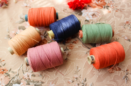 threads: Skeins of sewing threads