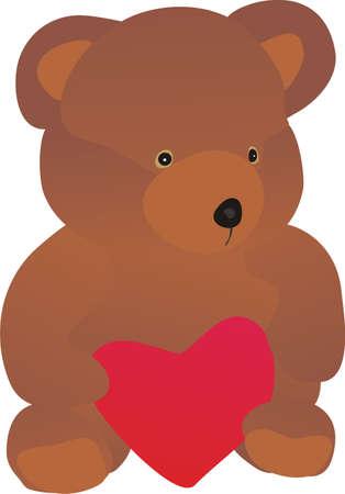 Bear and heart Stock Vector - 8141994
