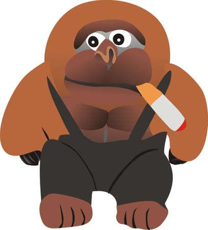 cigaret: Gorilla with a cigaret