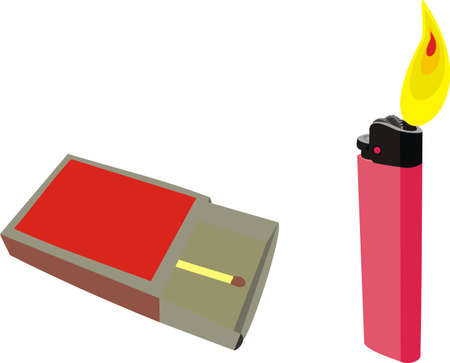 ljusare: Matches and a lighter