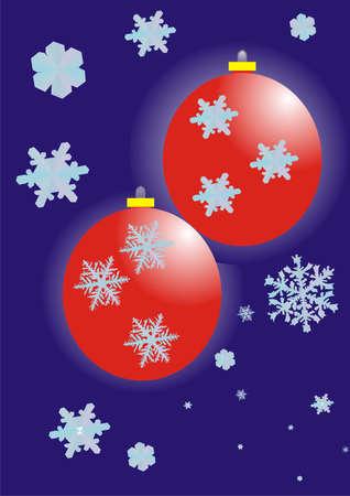 New Year's spheres Stock Vector - 8275879