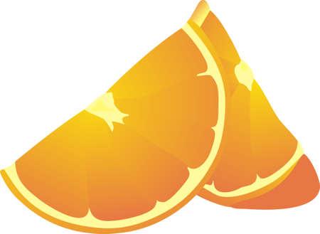segmentar: Segmento de naranja