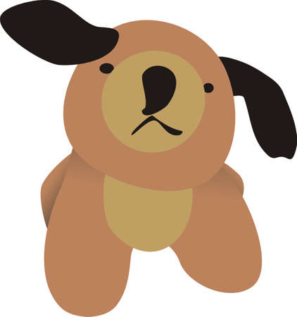 dexterous: Small dog Illustration