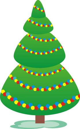 New Year tree Stock Vector - 8275889