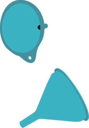 Funnel for water Illustration