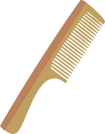 Wooden hairbrush Stock Vector - 8275924
