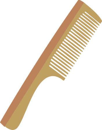 Wooden hairbrush Stock Vector - 8275924