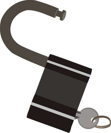 The lock with a key