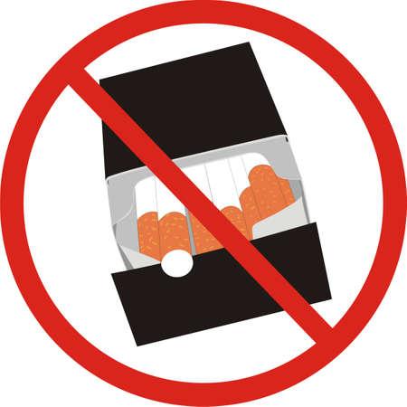 cigaret: Smoking interdiction Illustration