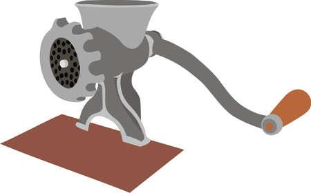 Meat grinder Illustration