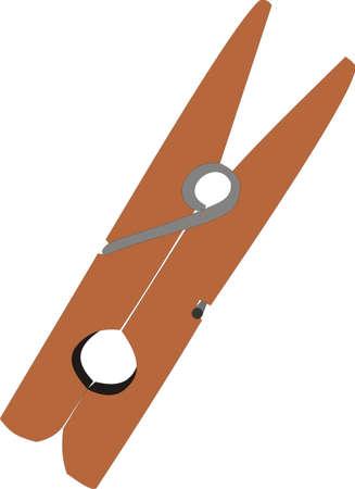 Wooden clothespin Stock Vector - 8381489