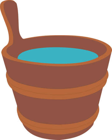 Bucket with water Stock Vector - 8381570