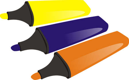 Set of markers Illustration