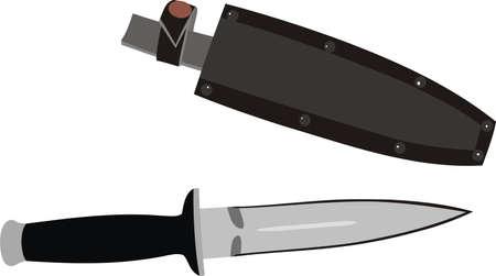 sheath: Knife with a sheath