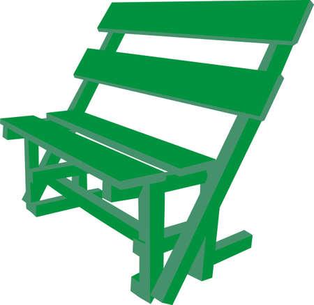 garden bench: Green bench