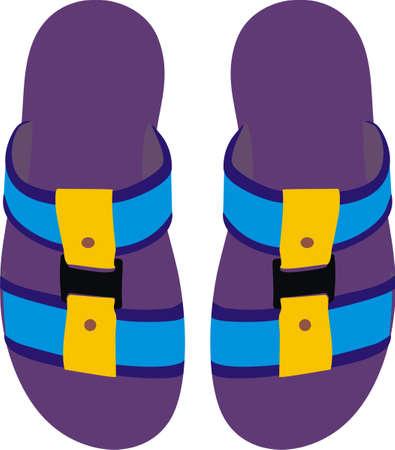 Summer slippers Illustration