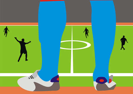 replacement: Replacement of the football player Illustration
