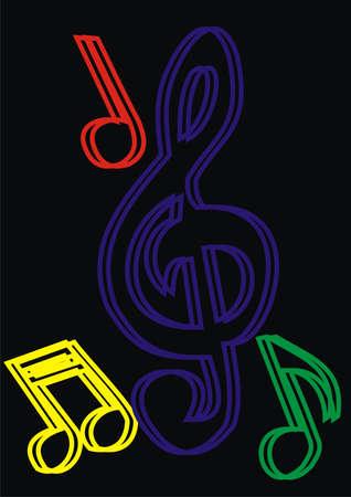 Musical notes Stock Vector - 9127898