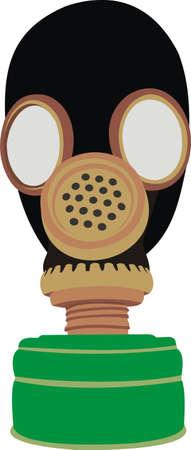 oxygen mask: Gas mask Illustration