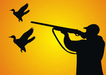 Duck hunting Stock Vector - 9721247