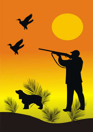 Hunting for a duck Stock Vector - 9721248